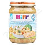 HiPP MENU BIO Těst. s losos.  brok.  a smet.  250g