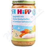 HiPP MENU Špagety s mořskou rybou a zeleninou 250g