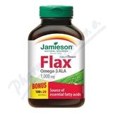 JAMIESON Flax Omega-3 1000mg lněný olej cps. 200