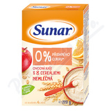 Sunar nemléčná ovocná kaše s 8 cereáliemi 220g