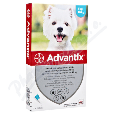 Advantix pro psy spot.on.od 4 do 10kg a.u.v.4x1ml